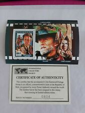 Clint Eastwood Postage Stamp W/ COA Limited Edition Status Commemorative Issue