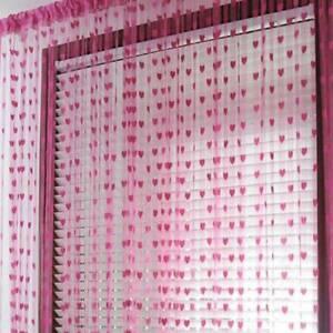 Door String Curtain Room Divider Window Panel Tassel Fringe Beads Fly Screen PF