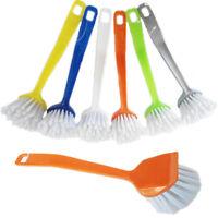 3 Dish Washing Up Brush Cleaning Tool Pot Pan Kitchen Tool Scrubber Fan Bristle
