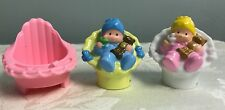 Fisher Price Little People Baby Girl Boy TWINS Carrier High Chair