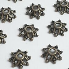 25pcs Filigree Flower Bead Caps Antique Bronze Findings 8mm - B14479