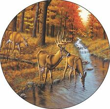 Deer #9 spare Tire Cover buck & does at river Jeep RV Camper(all sizes available
