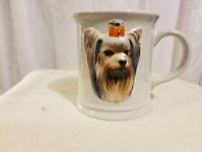 Yorkie Dog Coffee Cup Mug Xpres Best Friends Original 3-D Pooch 1999
