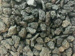 50 lave noire pierre volcanique 1/3 pouzzolane decors aquascaping nano aquarium