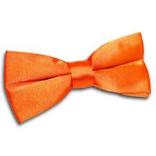 DQT Premium Satin Solid Plain Dickie Wedding Adjustable Pre-Tied Men's Bow Tie