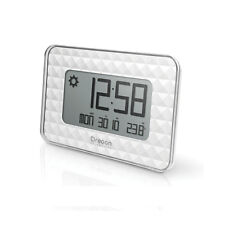 OREGON SCIENTIFIC reloj blanco radio comprobado calendario temperatura inter