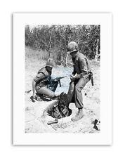 Y GUERRE VIETNAM USA Gaz Masque soldat Poster vintage photographie militaire toile