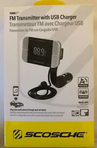 NEW Scosche FMTD3PRO FM Transmitter With USB Charger