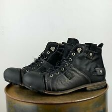 """YELLOW CAB Schuhe , Stiefel ,  Boots  """" INDUSTRIAL """"  BLACK"""
