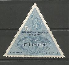 Usa/Ny New York 1956 5th International Philatelic Exhibition poster stamp (B)
