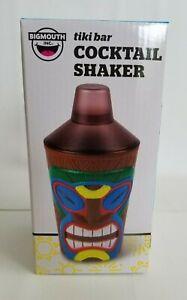 Tiki Bar Cocktail Shaker 20 Oz Detachable Strainer By BigMouth NEW