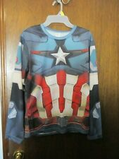 Captain America Long Sleeve Shirt Size L, Cosplay