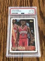 1996 Topps Allen Iverson PSA 8 NM-MT RC 76ers Rookie #171