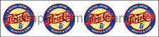(4) PEPSI VINTAGE STYLE WORTH A DIME  DECAL 1""