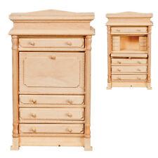 Dollhouse Miniature Unfinished Secretary Writing Desk 1:12 Scale Furniture