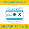 MSI System Recovery Boot Repair Restore CD DVD Windows 10 8 7 Vista XP