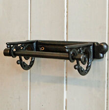 Richmond Victorian style cast metal wall mounted toilet roll holder.