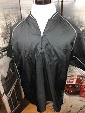 Mizuno 1/2 Zip Pullover Jacket Mens Medium Black Vented Golf Polyester