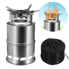 Portable Outdoor Cooking Camping Burner Picnic Wood Stove Burning Backpacking
