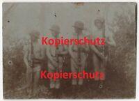 WK1 Foto Soldaten nackt nude halbnackt Unterwäsche Stahlhelm Gewehr Bajo 2164