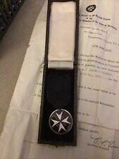 More details for vintage venerable order of st.john medal in case & original award letter 1955