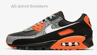 "Nike Air Max 90 ""Black/Safety Orange/Whi"" Men's Trainers Limited Stock All Sizes"