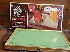 Cornwall Hot Electric Warming Tray #1418 Avocado  In Box USA Vintage