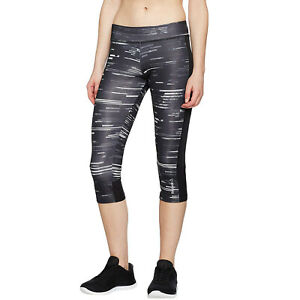 Reebok Damen Capri Workout Bereit Fitness Training Laufen Leggings Hose - Kreide