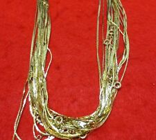 "Wholesale Lots From 5- 144 Pcs Of 30"" 14Kt Gold Plated 1Mm Cobra Chain Necklaces"