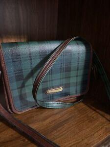 Vintage Polo Ralph Lauren Crossbody Messenger Bag Black Watch Tartan Rare