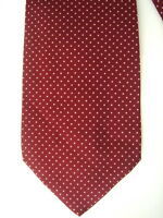 TRES BELLE CRAVATE CACHAREL SOIE BORDEAUX PETIT POIS  NEUVE/NEW SILK TIE