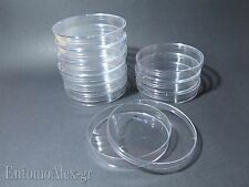 piastre capsule PETRI PS  Ø90mm x10 contenitori plastica colture batteriche LAB.