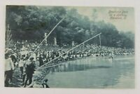 Postcard Packed Shoreline Fishing at Brookside Park in Cleveland Ohio 1907