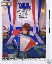 Coupure de presse Clipping 1989 Yvette Horner  (3 pages)