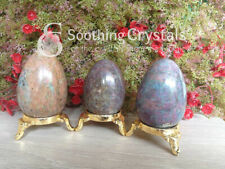 1 Pc Ruby Kyanite Egg Gemstone Eggs Healing Massager Egg Crystals
