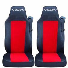 2 x Sitzbezüge Schonbezüge Bezüge Schwarz / Rot LKW VOLVO FH12 FH16 FL FM