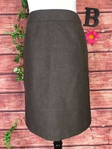 Pendleton Skirt size 8 Petite Brown Wool Straight Knee Suit Career Professional