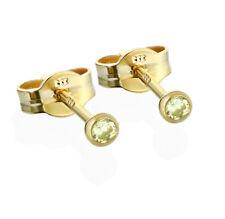Paar Ohrstecker Gold 333er 2,50mm limette Zirkonia Damen Herren Kinder 6702