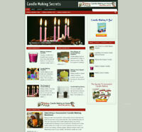 CANDLE MAKING WEBSITE WITH UK AFFILIATES /FULLY STOCKED/ FREE DOMAIN + HOSTING