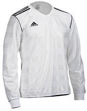 adidas FUSSBALL TRIKOT Sport Freizeit LONGSLEEVE Soccer TABELA T-Shirt WEISS BLK