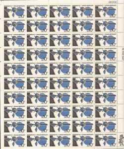 US Stamp - 1974 Mariner 10, Venus, Mercury - 50 Stamp Sheet #1557