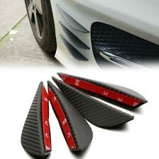 4pcs Carbon Fiber Texture Bumper Protector Body Spoiler Lip Canards Splitter New