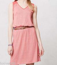 NWT Anthropologie DELETTA Janie Jersey Dress Striated Stripe Chemise Lined M