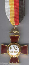 Spain Medal Military 25 Years Peace 1964 Tipo 948 A