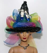 Rainbow Blue Slippers Silver Wand Salem Witch Fairt Hat #13 Doll BottleTop