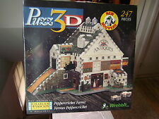 PUZZ 3-D jigsaw puzzle NEW Charles Wysocki 1998 Peppercricket Farms structure