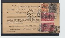 Admiral & Confederation issue $1.00+50c+ 2x20c Roller 1927 381 circulars Canada