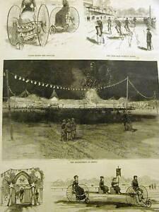 HAMPDEN PARK BICYCLES SPRINGFIELD MASS. 1883 Art Matted