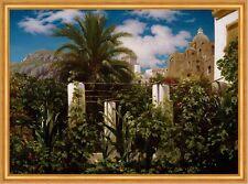 Garden of an Inn, Capri Leighton Garten Palmen Gasthaus Italien B A1 01916