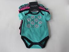 Nautica Baby Girls 5 pack Multicolored Bodysuit, size 3-6 Months NWT
